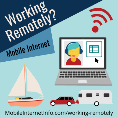 working remotely over mobile internet rv boat