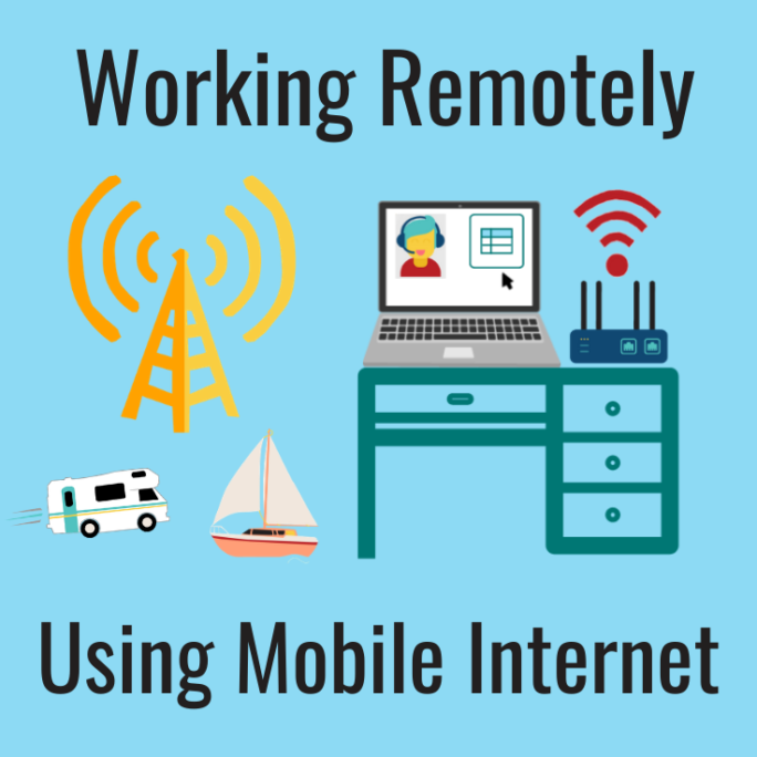 working remotely using mobile internet